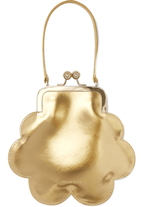 Simone Rocha - Flower Metallic Patent-leather Tote - Gold