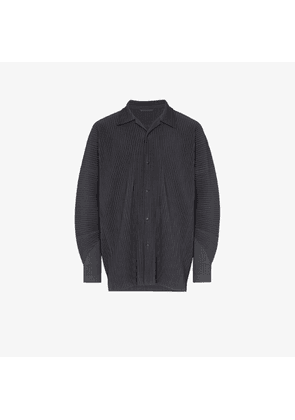 Homme Plissé Issey Miyake Grey Pleated long-sleeved shirt
