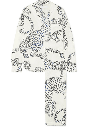 Desmond & Dempsey - Printed Cotton-voile Pajama Set - White