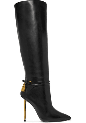 TOM FORD - Leather Knee Boots - Black