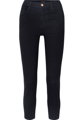 J Brand - Ruby Cropped High-rise Slim-leg Jeans - Dark denim