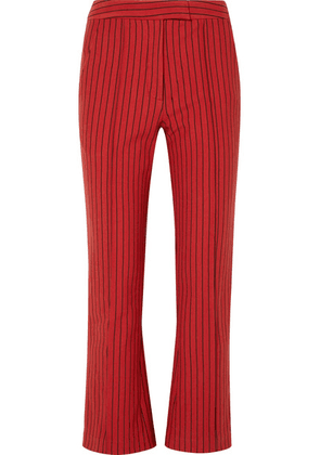 Rosie Assoulin - The Scrunchy Striped Cotton-blend Jacquard Flared Pants - US10