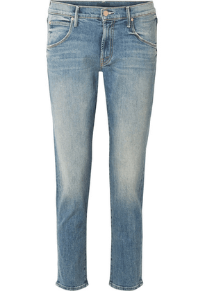Mother - The Ditcher Cropped Mid-rise Straight-leg Jeans - Mid denim