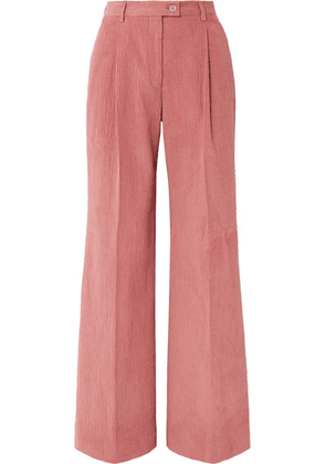 Acne Studios - Pina Cotton-blend Corduroy Wide-leg Pants - Antique rose