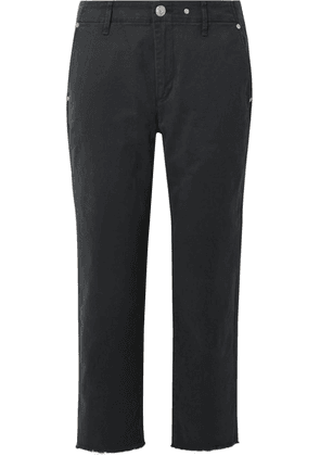 rag & bone - Buckley Cropped Cotton-blend Twill Straight-leg Pants - Midnight blue