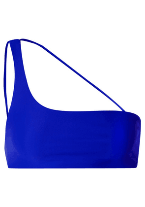 Jade Swim - Apex One-shoulder Bikini Top - Bright blue