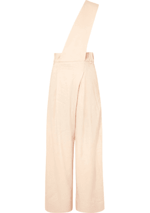 Tibi - One-shoulder Linen-blend Twill Jumpsuit - Beige