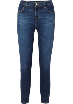 J Brand - Alana Cropped High-rise Skinny Jeans - Dark denim