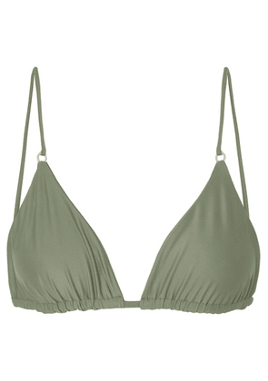 Jade Swim - Lido Triangle Bikini Top - Army green