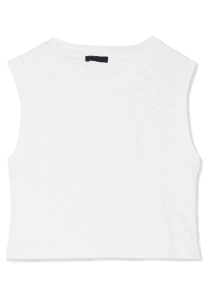 The Range - Tide Slub Cotton-jersey Tank - White