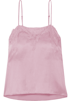 Cami NYC - The Sweetheart Lace-trimmed Silk-charmeuse Camisole - Pink