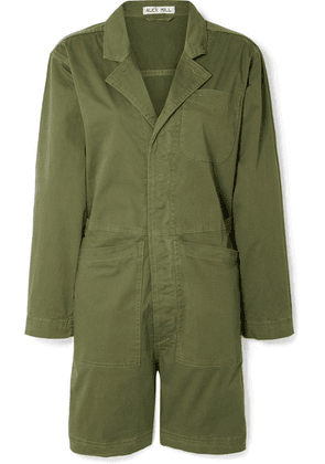 Alex Mill - Cotton-blend Playsuit - Army green