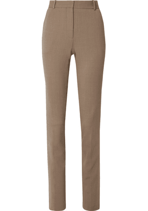 The Row - Roosevelt Wool-blend Crepe Skinny Pants - Camel