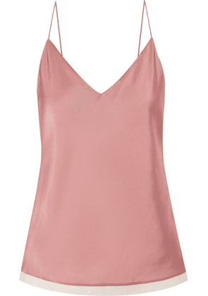 Theory - Cotton Gauze-trimmed Satin-twill Camisole - Pink