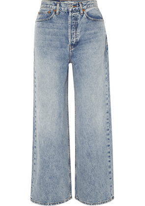 RE/DONE - 60s Extreme Cropped High-rise Wide-leg Jeans - Light denim