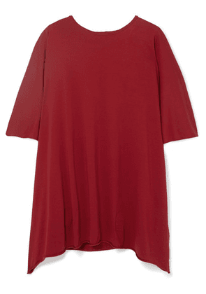 Rick Owens - Minerva Oversized Cotton-jersey Top - Red