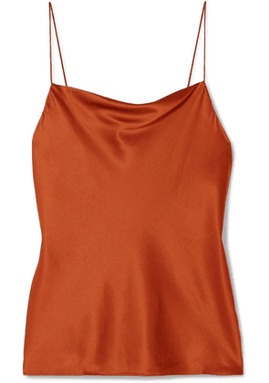 Cami NYC - The Axel Draped Stretch-silk Charmeuse Camisole - Orange