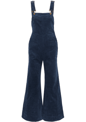 APIECE APART - Caterina Stretch-cotton Corduroy Overalls - Navy