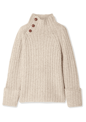 rag & bone - Klark Ribbed Wool-blend Turtleneck Sweater - Light gray