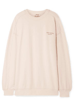 Acne Studios - Wora Oversized Embroidered Cotton-terry Sweatshirt - Pastel pink