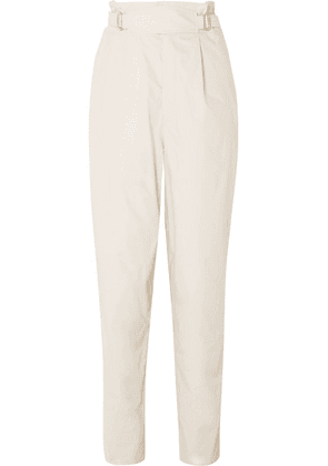 Isabel Marant - Pierson Pleated Cotton Tapered Pants - Ecru