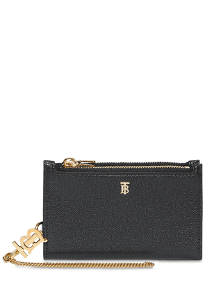 Leslie Grained Leather Chain Wallet