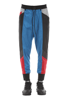 Color Block Nylon Track Pants