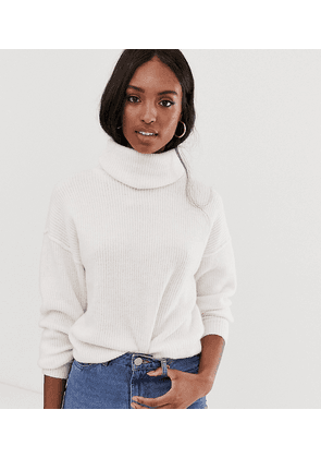 ASOS DESIGN Tall fluffy jumper with cowl neck in recycled blend