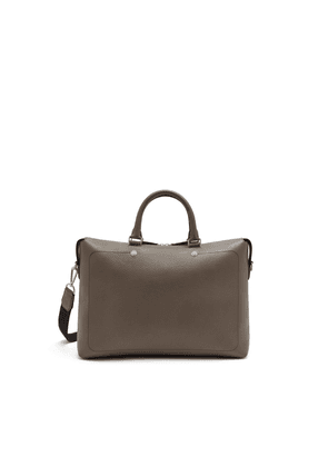Mulberry City Briefcase in Earth Grey Heavy Grain