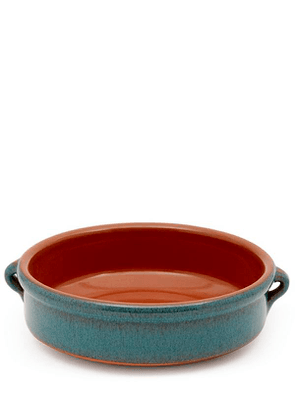 Peacock Green Terracotta Round Dish