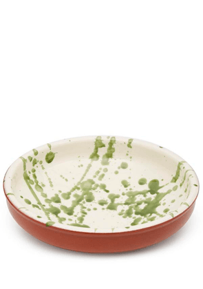 Small Green Splatter Terracotta Bowl