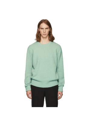 Tibi SSENSE Exclusive Green Alpaca Airy Pullover Sweater