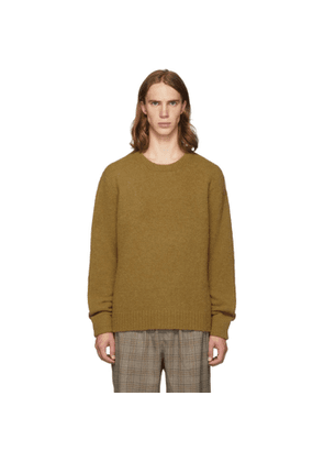 Tibi SSENSE Exclusive Tan Alpaca Airy Pullover Sweater