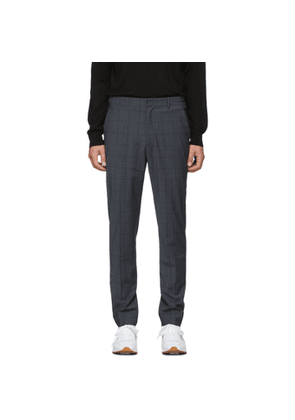 Tibi SSENSE Exclusive Grey Wool Windowpane Check Trousers