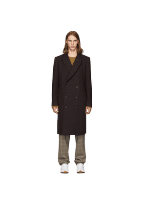Tibi SSENSE Exclusive Purple Wool Double-Breasted Coat