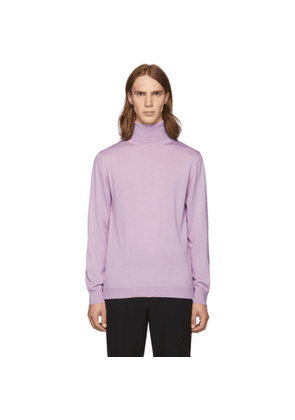 Tibi SSENSE Exclusive Purple Merino Wool Slim-Fit Turtleneck