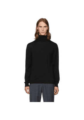 Tibi SSENSE Exclusive Black Merino Wool Slim-Fit Turtleneck