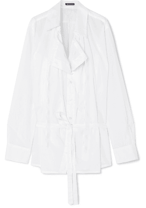 Ann Demeulemeester - Oversized Cotton-poplin Shirt - White