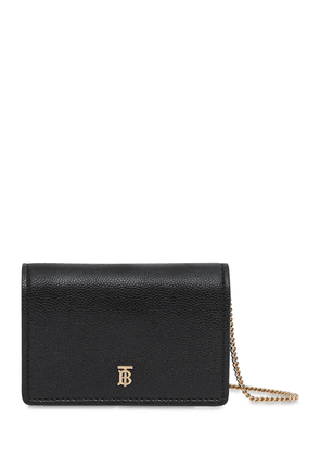 Jessie Grained Leather Chain Wallet