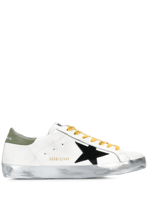 Golden Goose Superstar logo-print laces sneakers - White