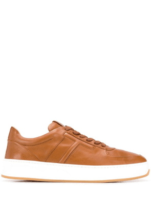 Tod's stitched T lace-up sneakers - Brown