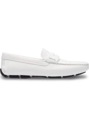 Prada classic slip-on loafers - White