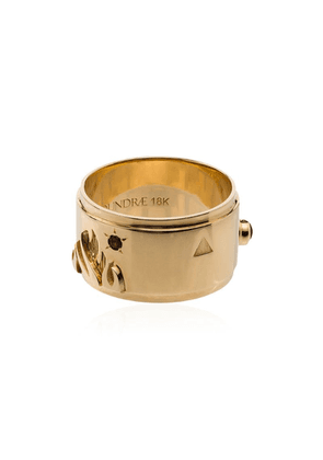 Foundrae 18kt gold diamond Fire ring