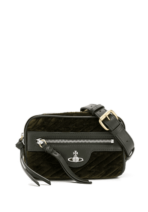 Vivienne Westwood quilted orb cross body bag - Green