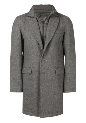 Herno layered single breasted coat - Grey