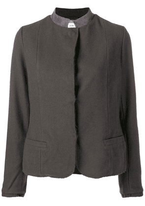 Kristensen Du Nord contrast collar fitted jacket - Grey