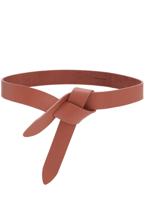 30mm Lecce Leather Belt W/bow