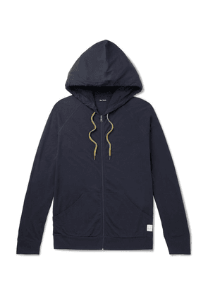 Paul Smith - Cotton-jersey Zip-up Hoodie - Midnight blue