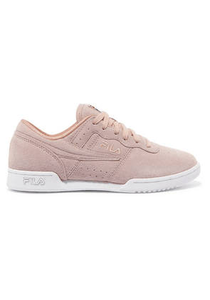 Fila - Original Fitness Premium Logo-embroidered Suede Sneakers - Pink