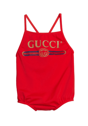 Logo One-Piece Swimsuit, Size 9-36 Months